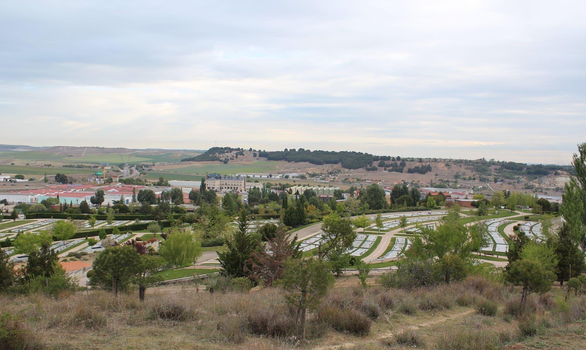 vistas del cementerio de las contiendas